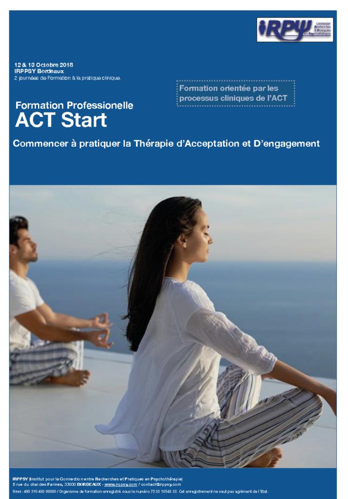 Formation ACT2018 à Bordeaux les 12 et 13 Octobre 2018